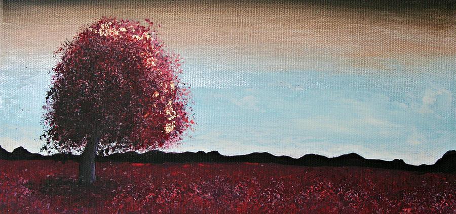 Red Painting - Fields Of Gold by Alma Yamazaki