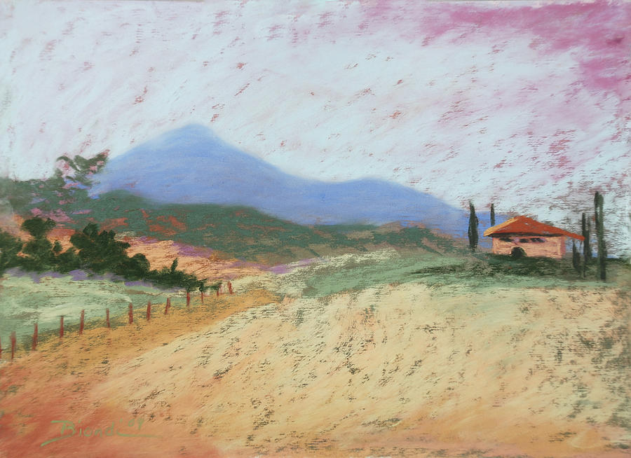Tuscany Pastel - Fields of Tuscany by Janet Biondi
