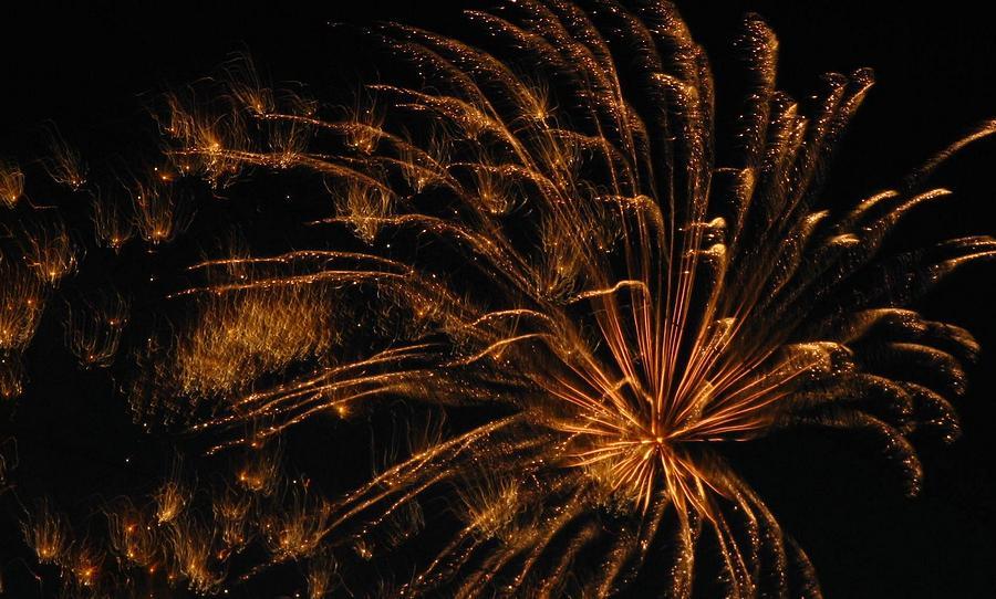 Fireworks Photograph - Fiery by Rhonda Barrett