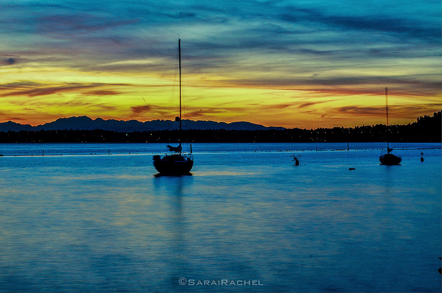 Lake Washington Photograph - Fiery Sky by Sarai Rachel