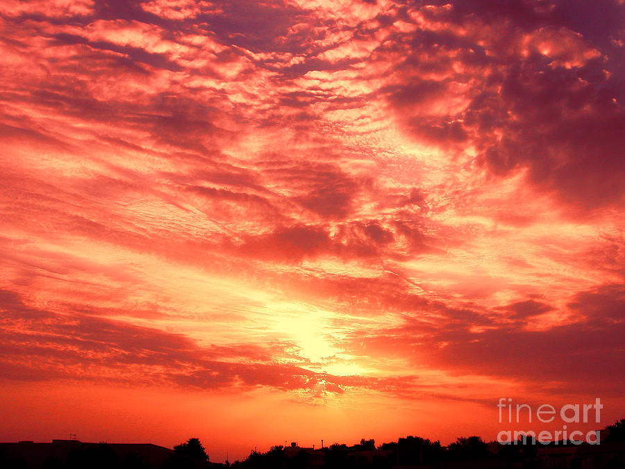 Clouds Photograph - Fiery Sunrise by Graham Taylor