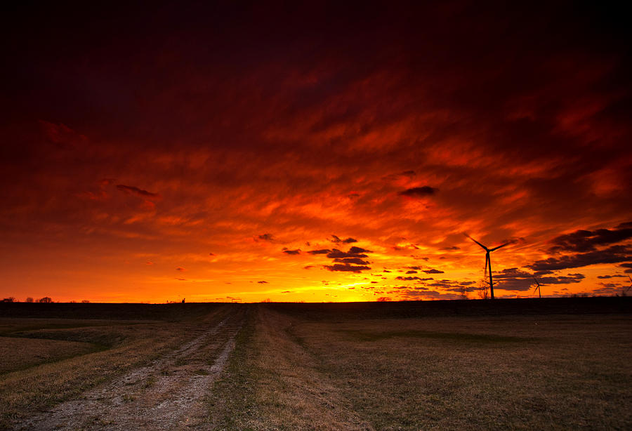 Fiery Sunset Photograph