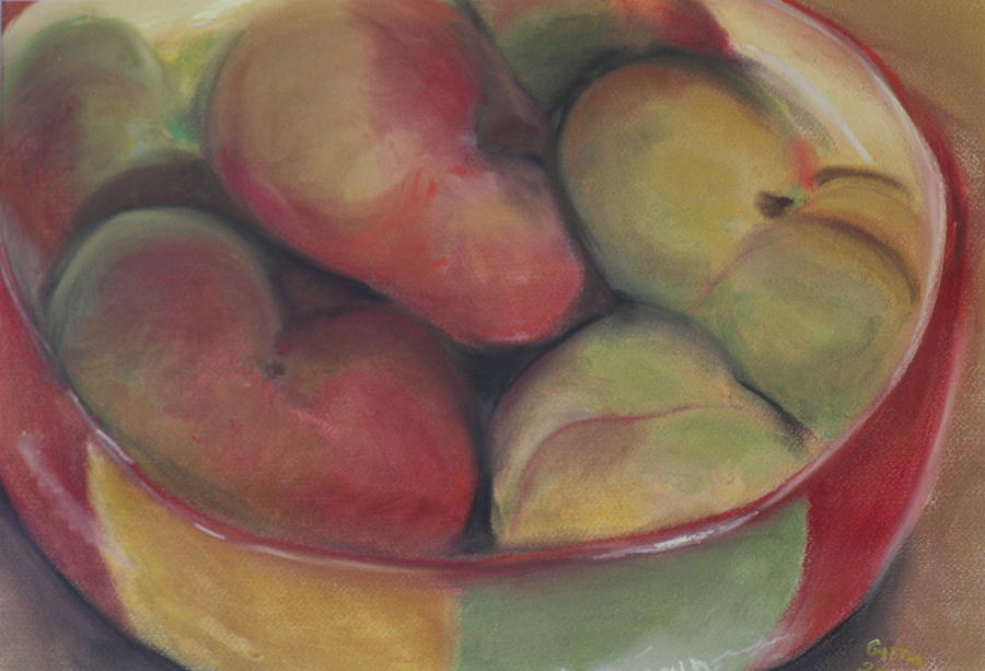 Peaches Painting - Fiesta by Gitta Brewster