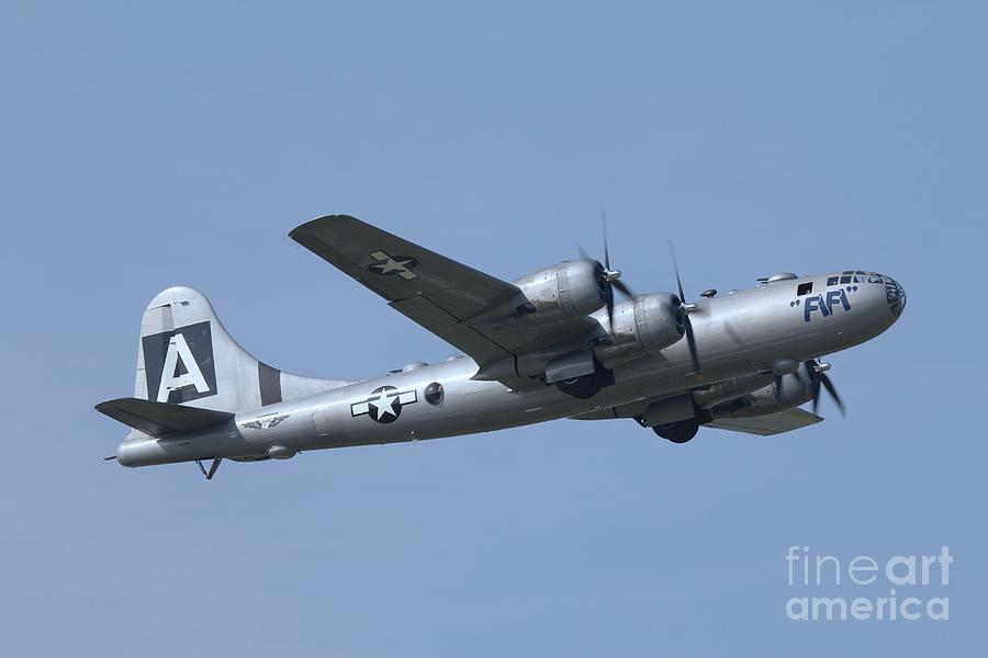 Long Island Air Show Photograph - Fifi Boeing B29 Superfortress In Flight by Scenesational Photos