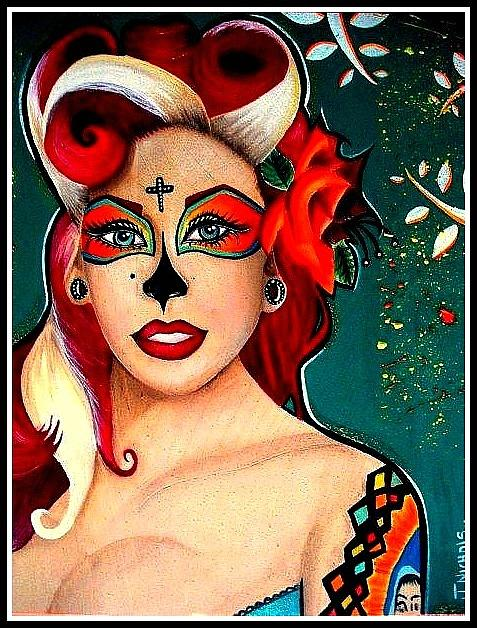 Day Of The Dead Painting - Fifi Trixi Bell by Justine Nichols