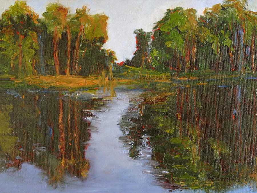 Landscape Painting - Fifteen Reflections by Cecelia Campbell