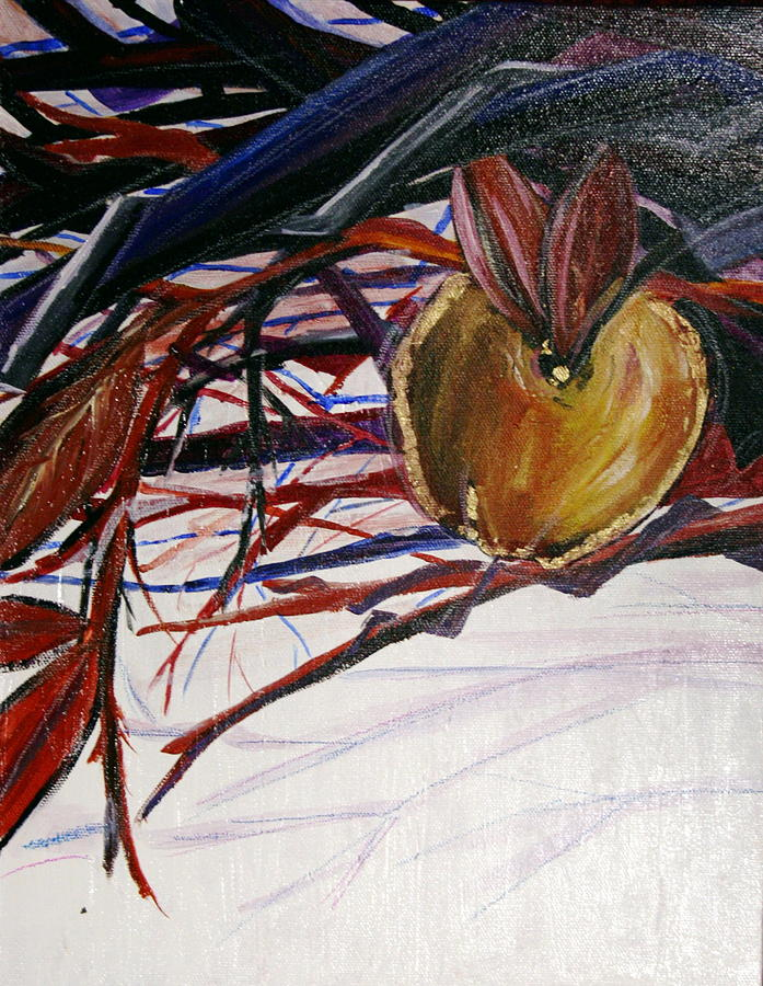 Apple Painting - Fifth World One by Kate Fortin
