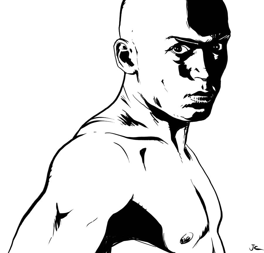 Fighter Drawing - Fighter by Giuseppe Cristiano