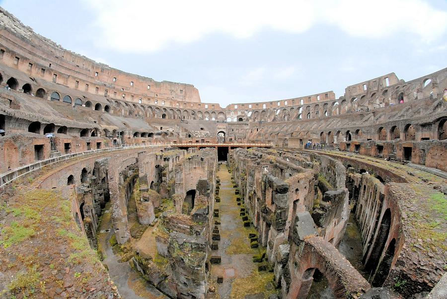 Coliseum Photograph - Fighting Time by