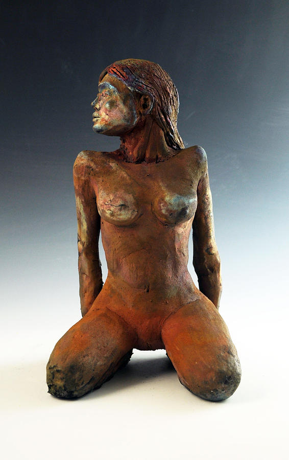 Clay Sculpture - Figure Study Two Front View by Alejandro Sanchez