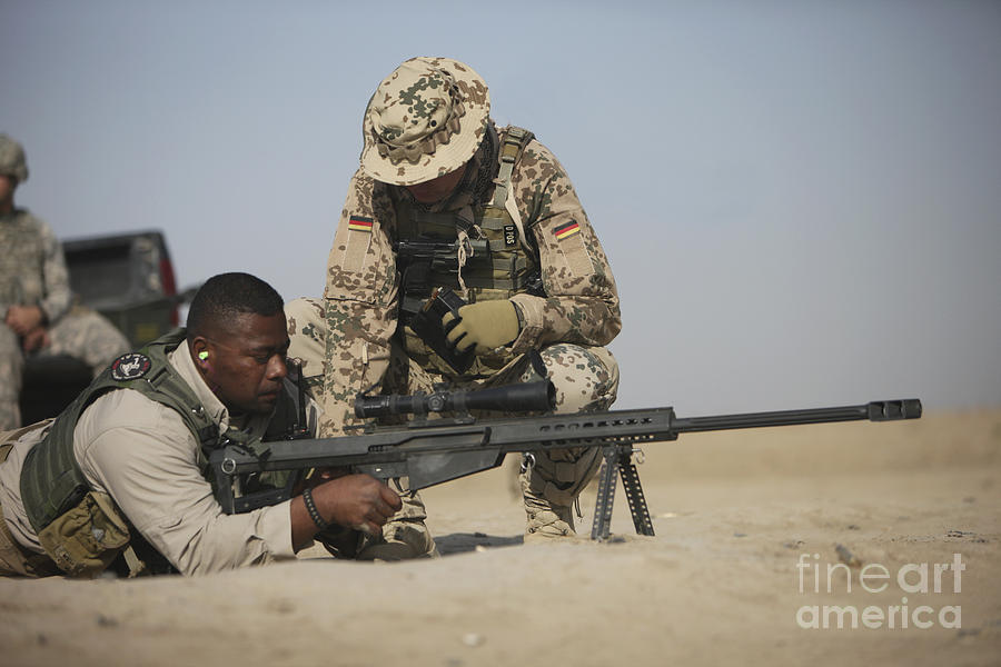 Operation Enduring Freedom Photograph - Fijian Contractor Clearing His Barrett by Terry Moore
