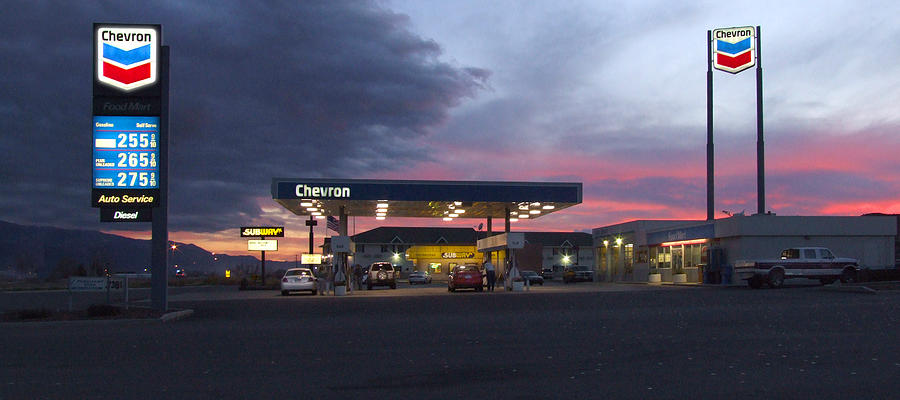 Gas Station Photograph - Filler Up by Mike McGlothlen
