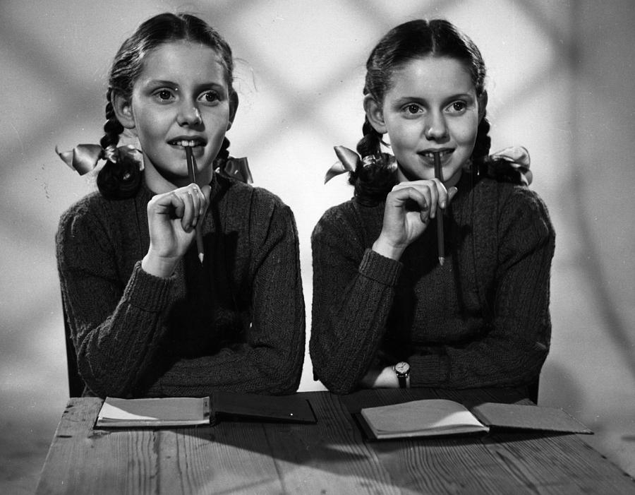Child Photograph - Film Star Twins by Maurice Ambler