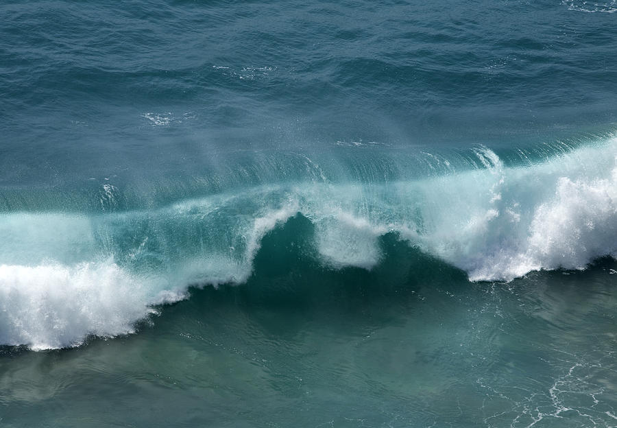 Surf Photograph - Final Collapse Of A Wave by Gregory Scott