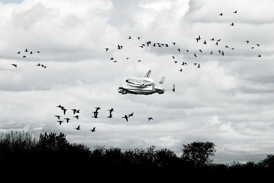 Space Shuttle Photograph - Final Flight Of The Enterprise by Tolga Cetin