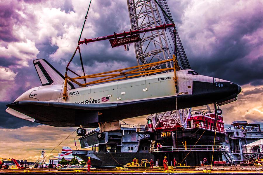 Enterprise Photograph - Final Flight Of The Ss Enterprise by Chris Lord