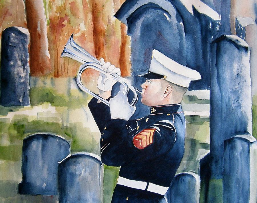 Taps Painting - Final Salute by Brian Degnon