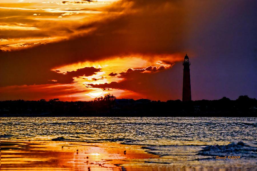 Ponce Lighthouse Photograph - Final Sunset Ponce Lighthouse by Stephen  Johnson