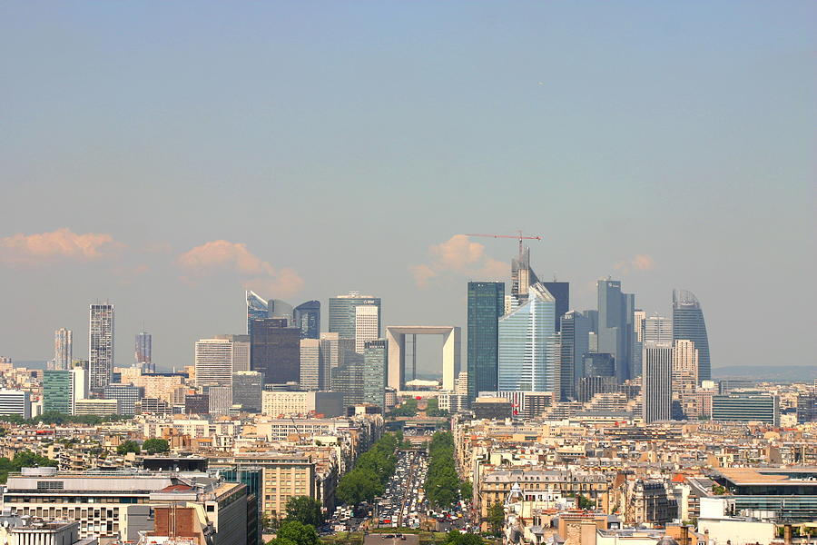Horizontal Photograph - Financial Buidings In Paris by All right rs