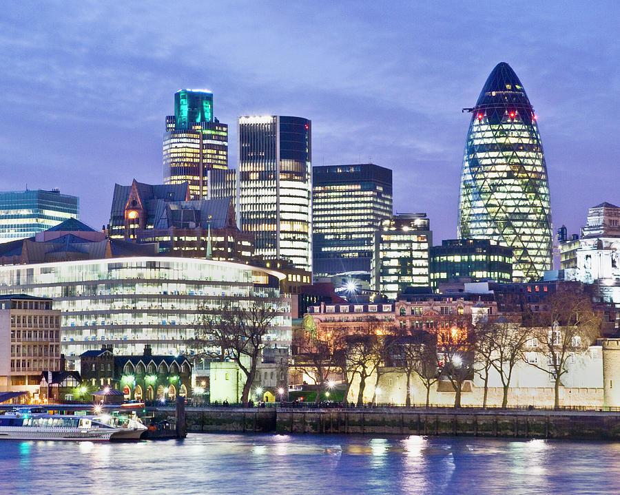 Horizontal Photograph - Financial City Skyline, London by John Harper