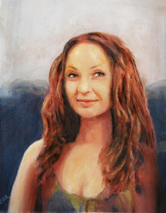 Traditional Painting - Fine Art Original Painting Jen Mona Lisa 2012 by G Linsenmayer
