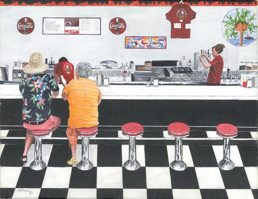Fine Dinning Painting by Stuart B Yaeger