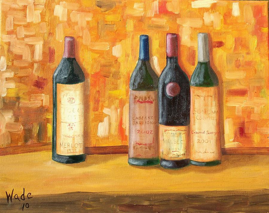 Wine Painting - Fine Wine Selection by Craig Wade