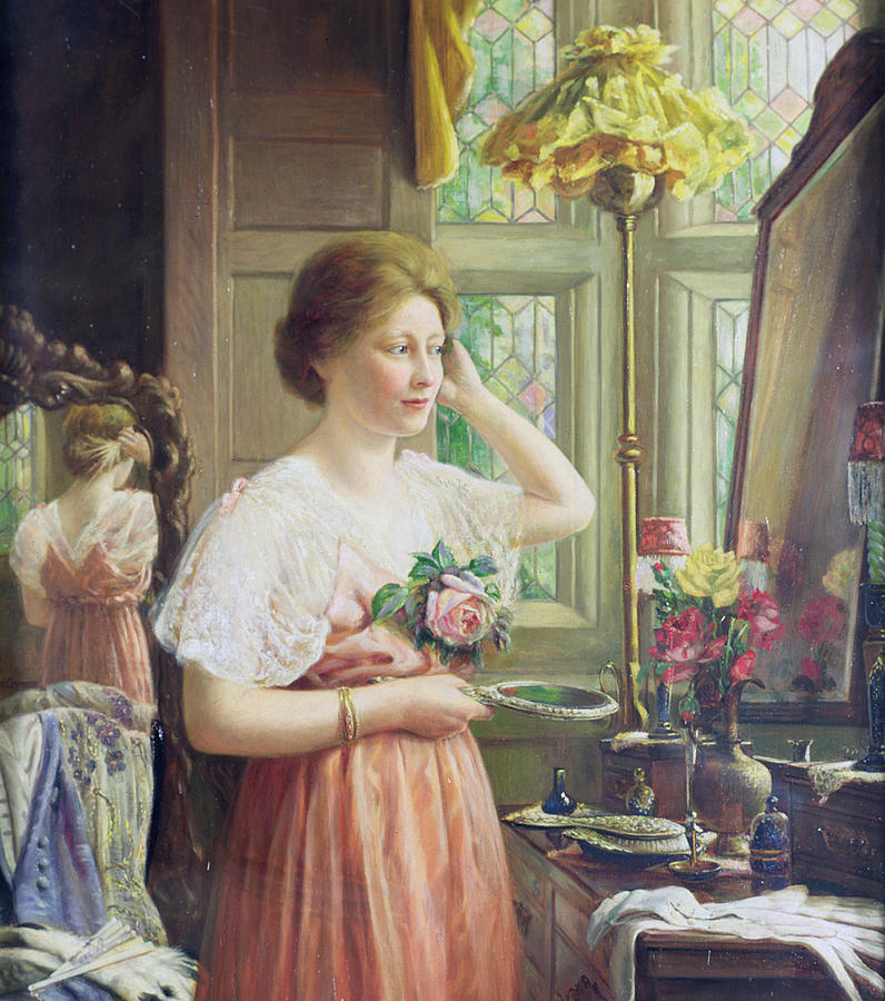 Mirror Painting - Finishing Touches by George Wimpenny