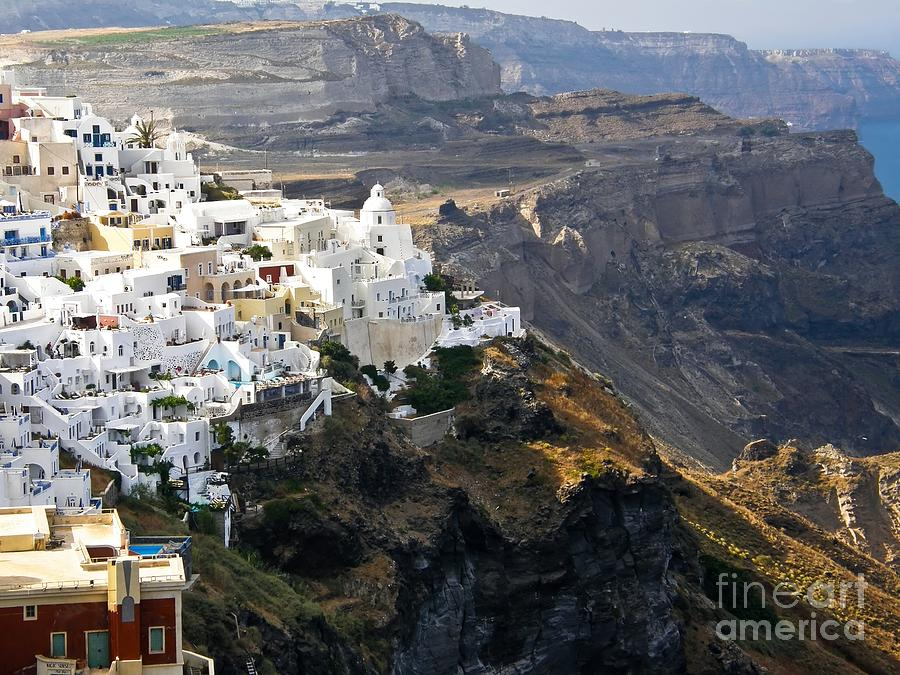 Fira Photograph - Fira Greece by Sophie Vigneault