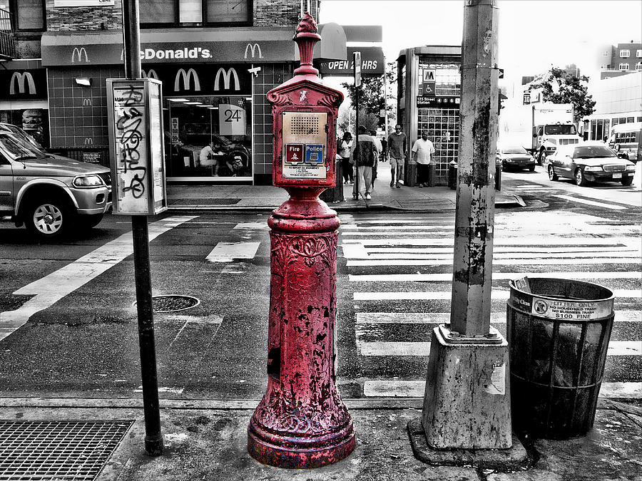 Hdr Photograph - Fire Call Box by Bennie Reynolds
