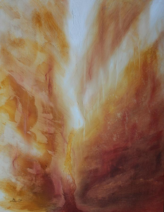Fire Painting - Fire Canyon by Gina DeRuggiero