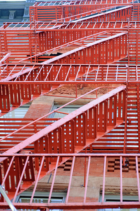 Vertical Photograph - Fire Escape by Copyright Eric Reichbaum