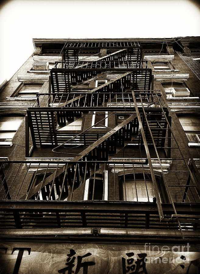 Photo Photograph - Fire Escape by Thanh Tran