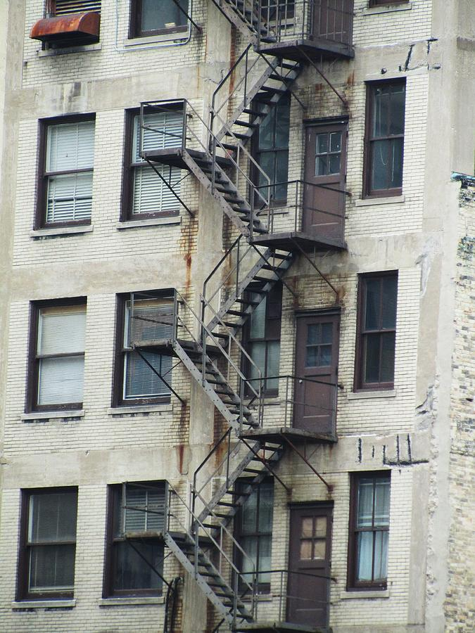 Fire Escape Photograph - Fire Escape by Todd Sherlock