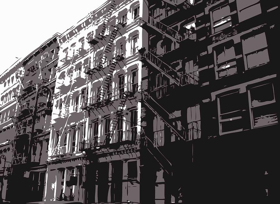 New York City Fire Escapes Photograph - Fire Escapes Bw3 by Scott Kelley