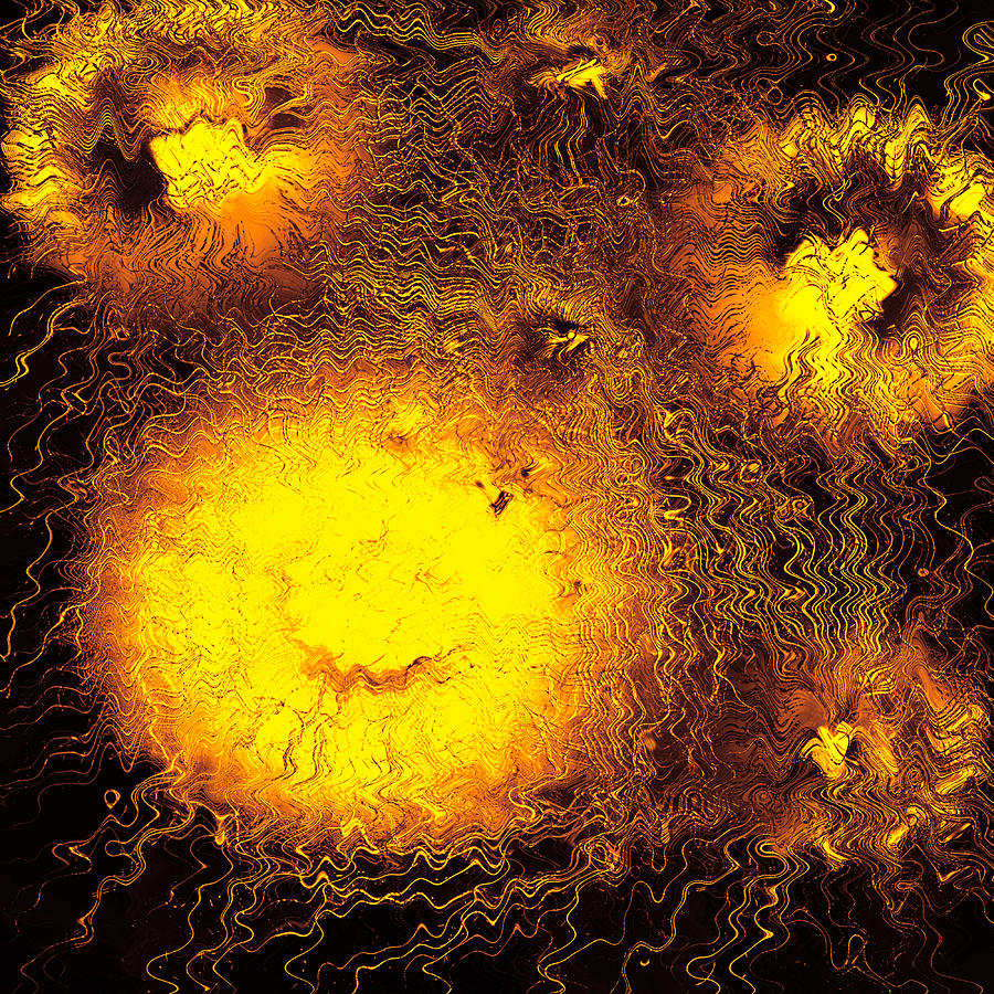 Abstract Digital Art - Fire Explosions by Hans Engbers
