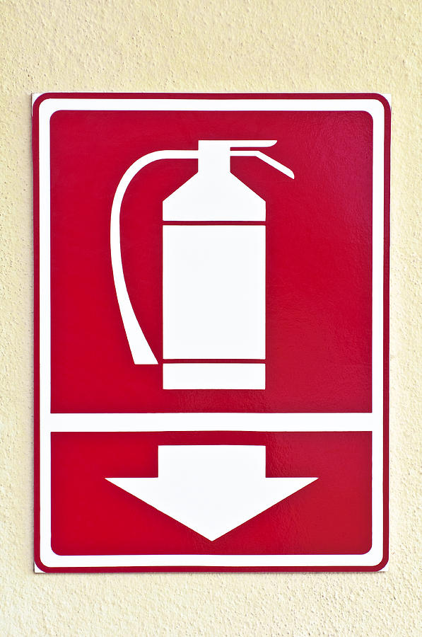 Fire Extinguisher Sign Photograph By Fernando Barozza