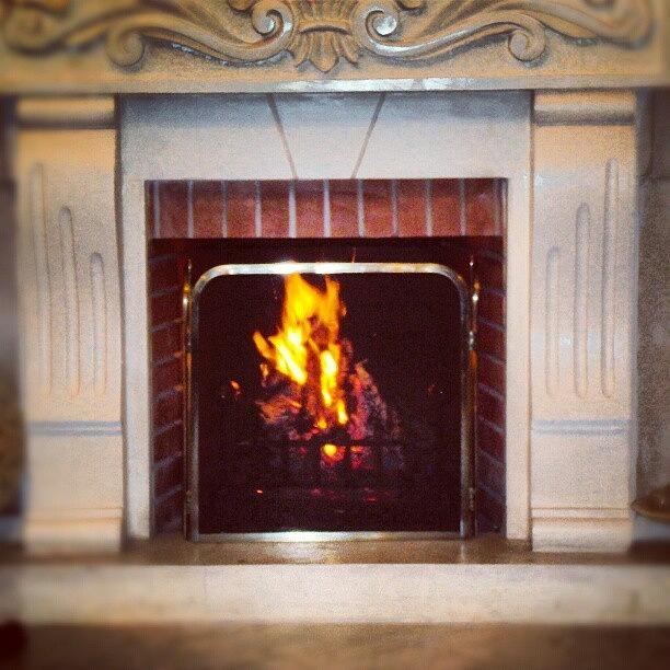 Winter Photograph - #fire #fireplace #classic #igaddict by Abdelrahman Alawwad