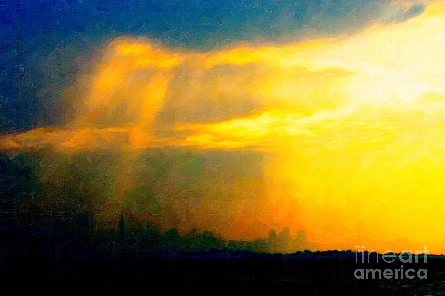 San Francisco Photograph - Fire In The City by Wingsdomain Art and Photography