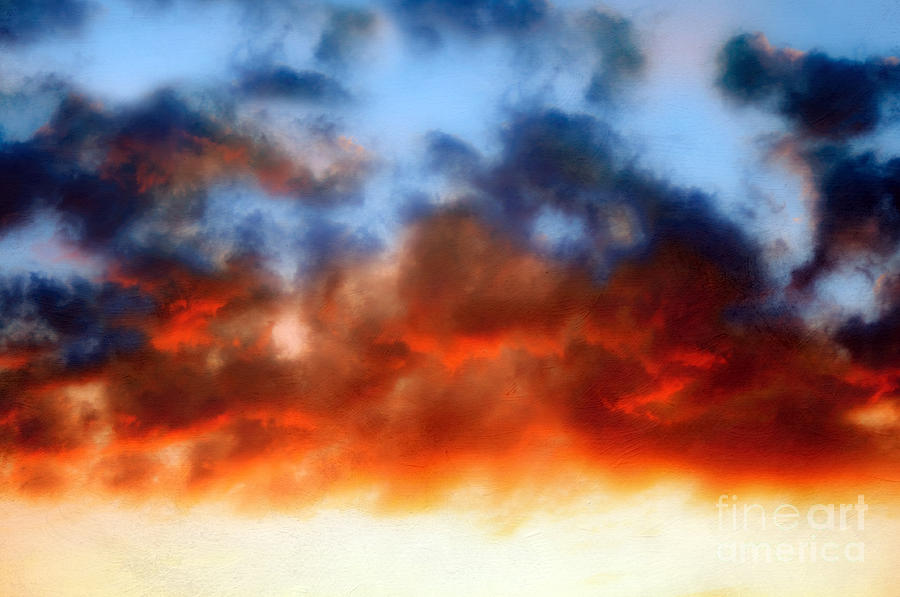 Texture Photograph - Fire In The Sky by Andee Design