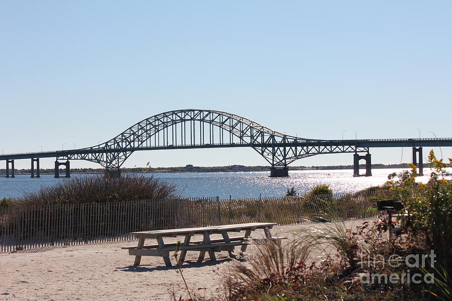 Fire Island Photograph - Fire Island Inlet Bridge by Scenesational Photos