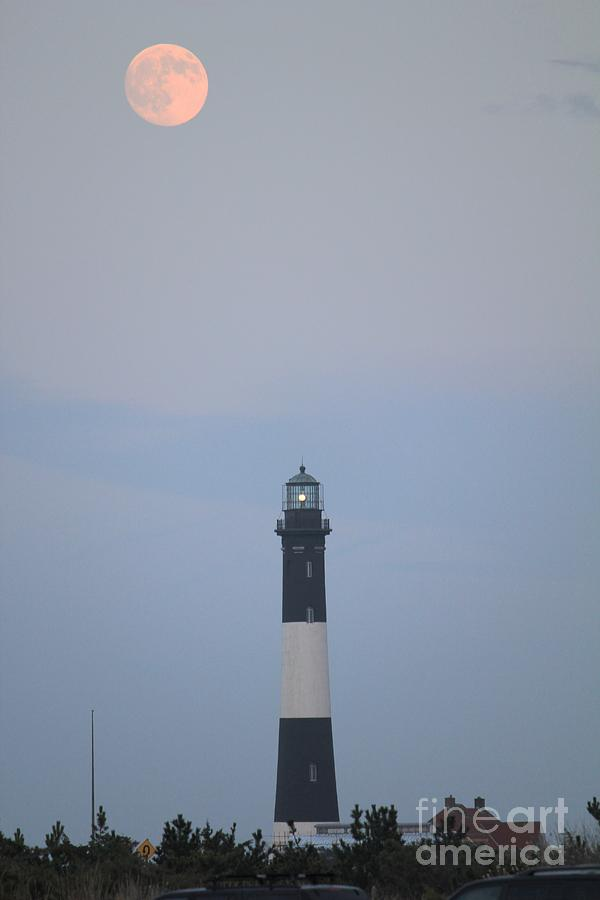 Light House Photograph - Fire Island Light House  by Scenesational Photos
