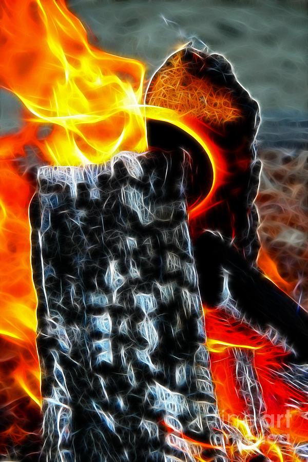 Fire Digital Art - Fire Magic by Mariola Bitner