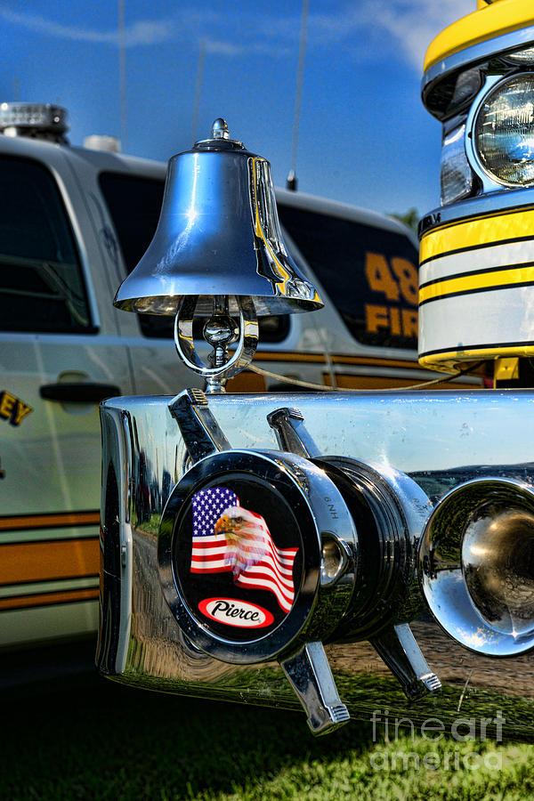 Fireman Photograph - Fire Truck Bell by Paul Ward
