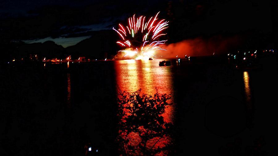Fireworks Digital Art - Fire Water by Don Mann