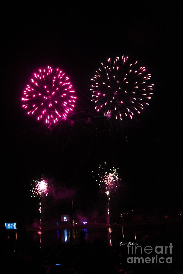 Fire Works Photograph - Fire Works by Yumi Johnson