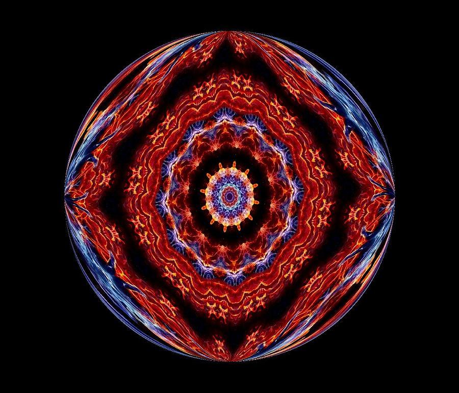 Circle Photograph - Fire by Yvette Pichette