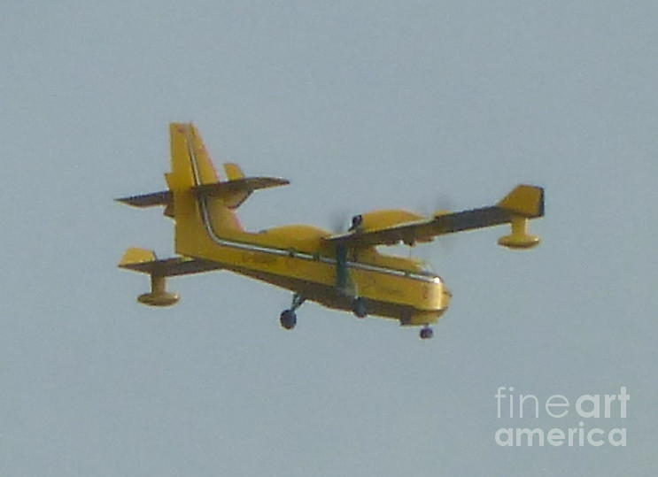 Plane Photograph - Firefighters Take To The Sky by Art Studio