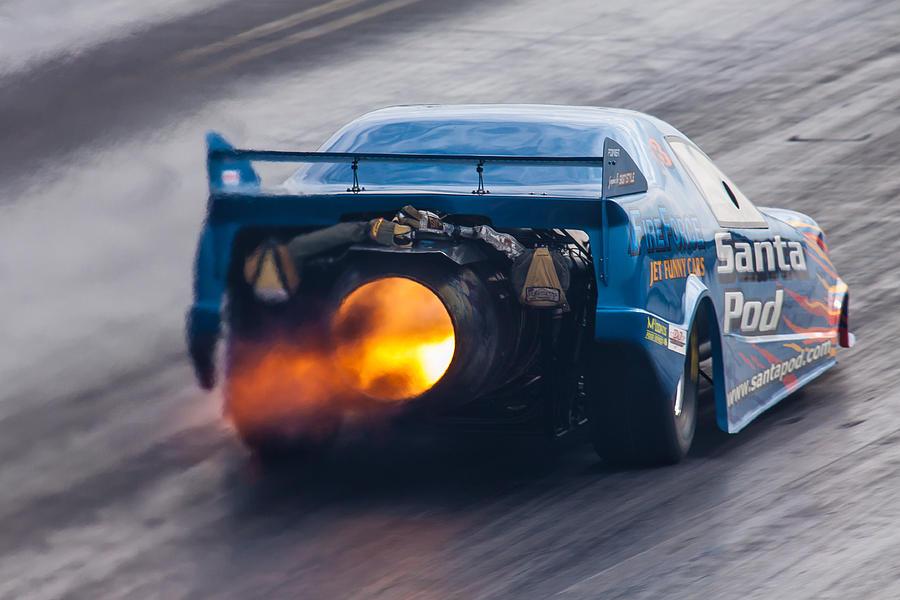 Fireforce Photograph - Fireforce Jet Funny Car by Ken Brannen
