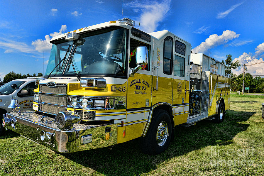 Yellow Photograph - Fireman - Amwell Valley Fire Co. by Paul Ward